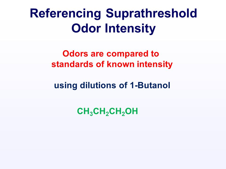 Odor Measurement How Bad? How Strong? Offensiveness Intensity