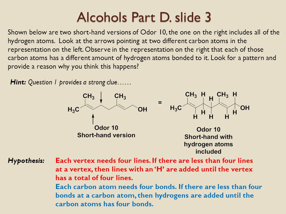 Alcohols Part D.