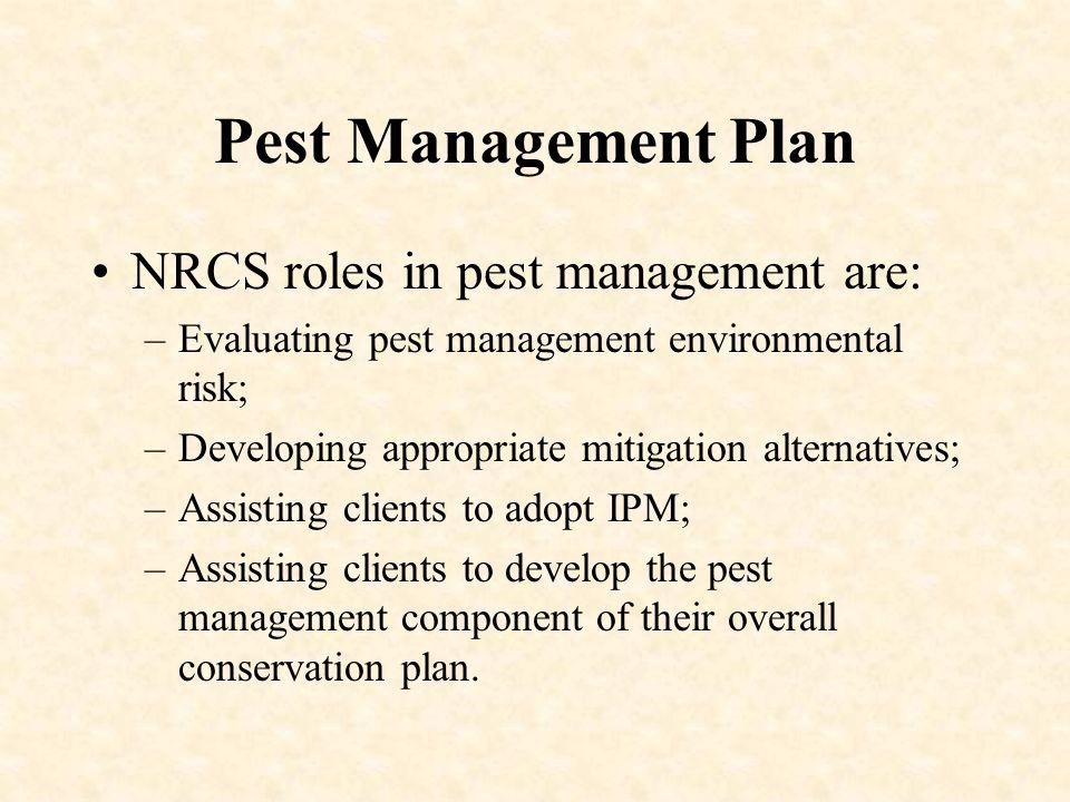Partnerships NRCS does not make Pesticide Recommendations.