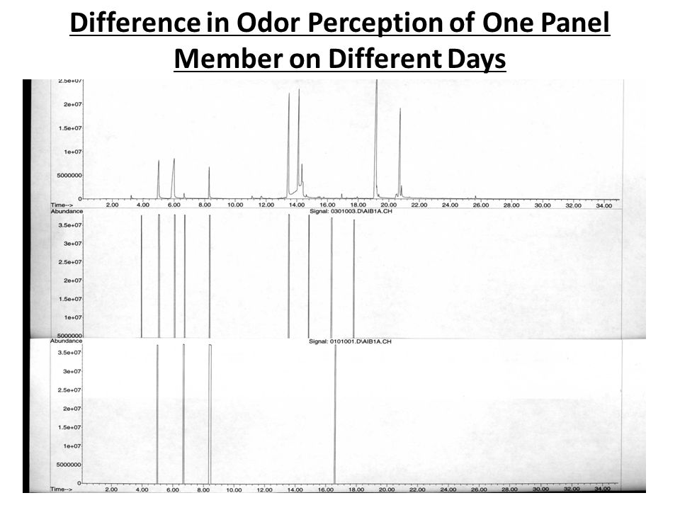 Difference in Odor Perception of One Panel Member on Different Days