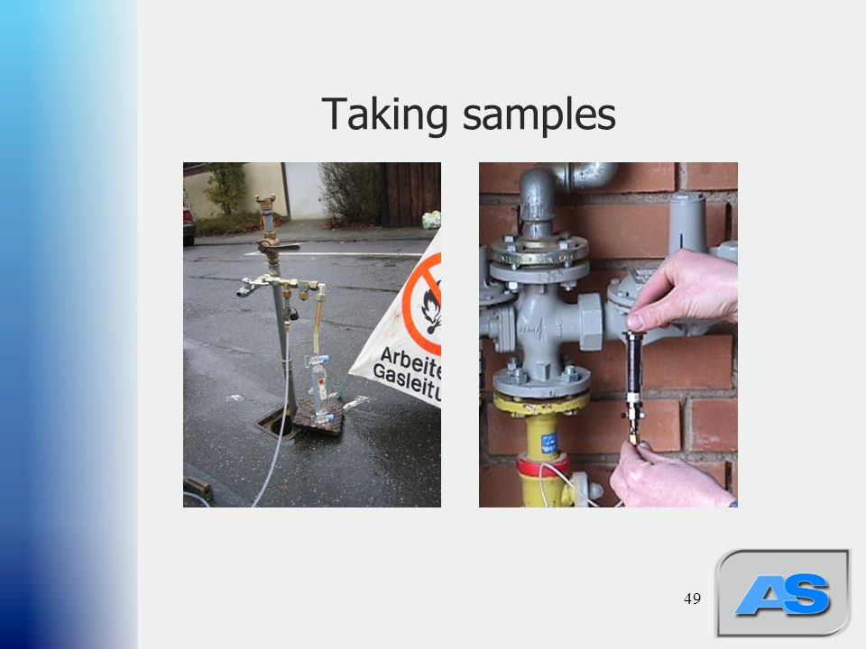 Taking samples 49