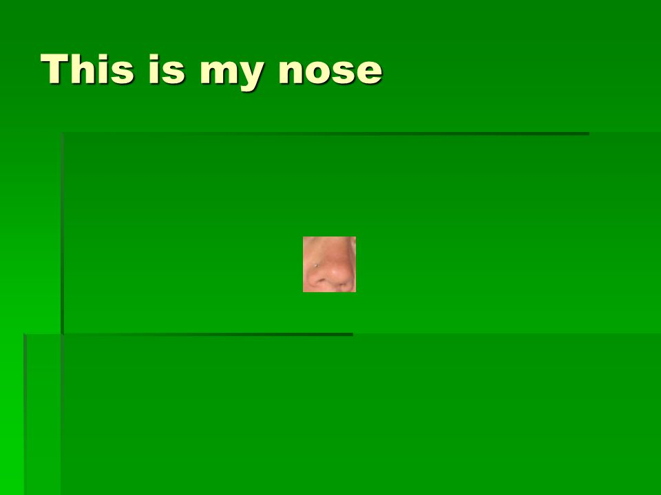 This is my nose