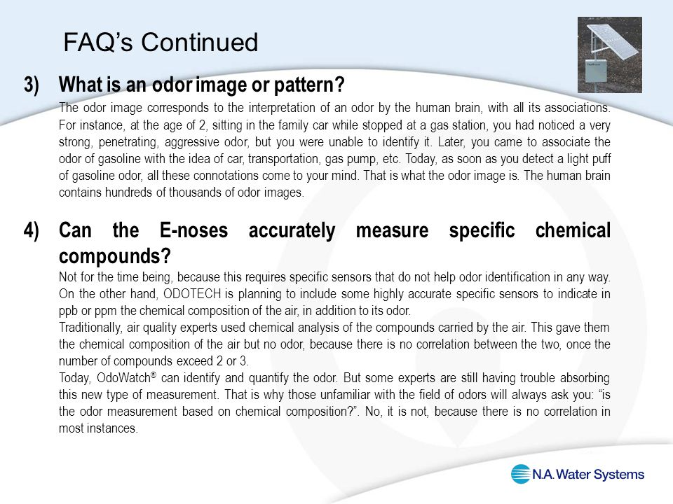 3)What is an odor image or pattern.