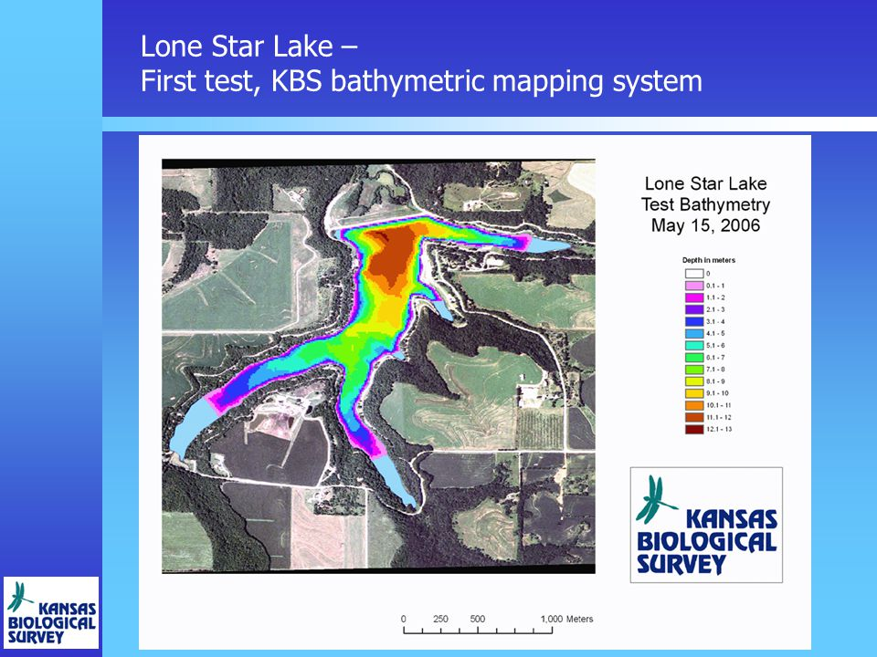 Lone Star Lake – First test, KBS bathymetric mapping system