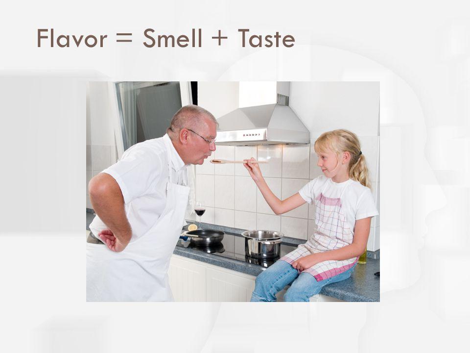 Flavor = Smell + Taste