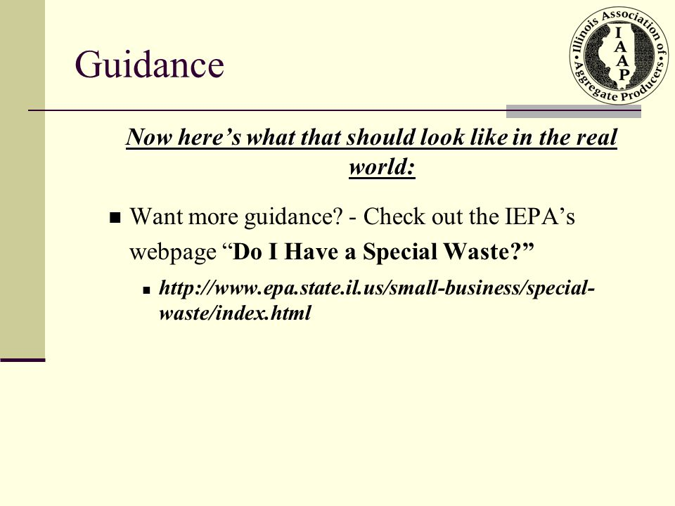 Guidance Now here's what that should look like in the real world: Want more guidance.