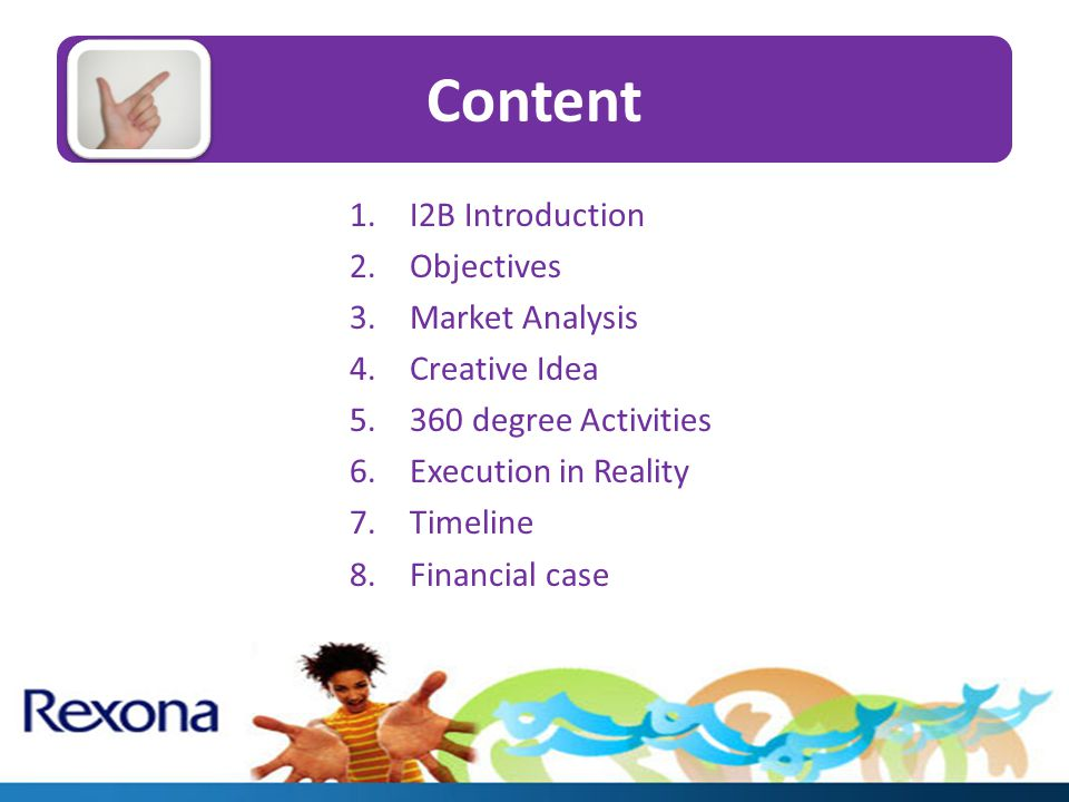 I2B Introduction I2B stands for Idea 2 Innovation in Business We are 9 students from International University.