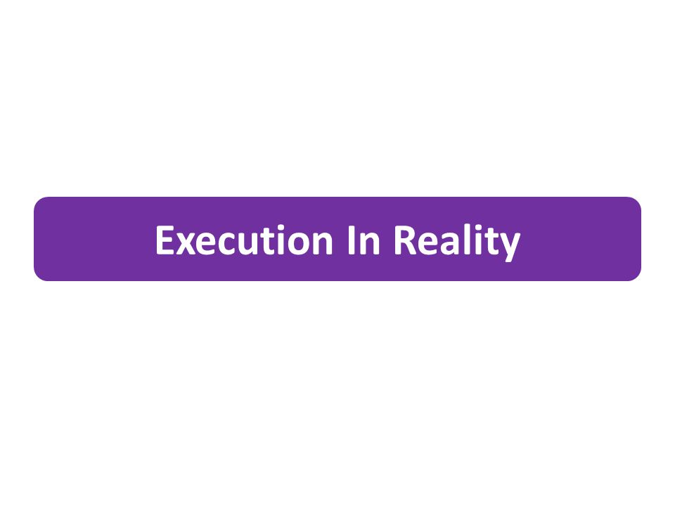 Execution In Reality