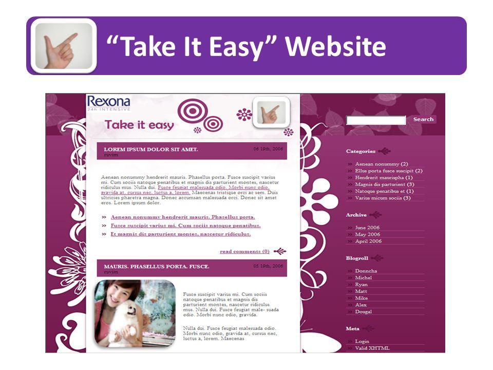 Take It Easy Website