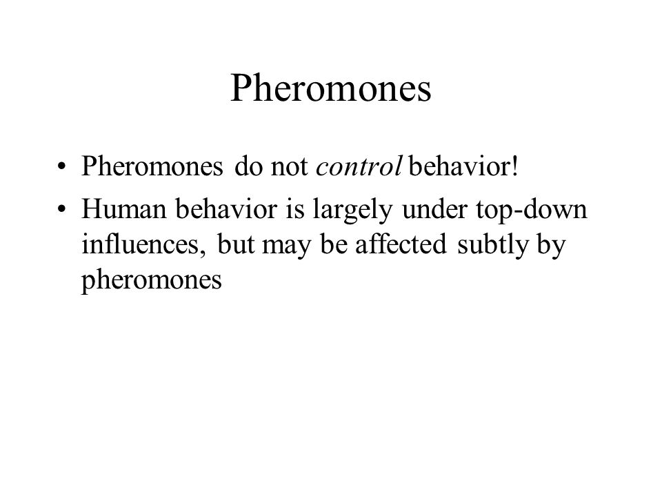 Pheromones do not control behavior.