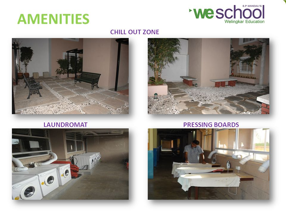AMENITIES CHILL OUT ZONE LAUNDROMATPRESSING BOARDS
