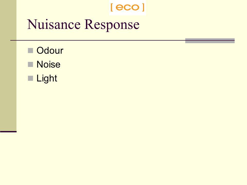 Odour Noise Light Nuisance Response
