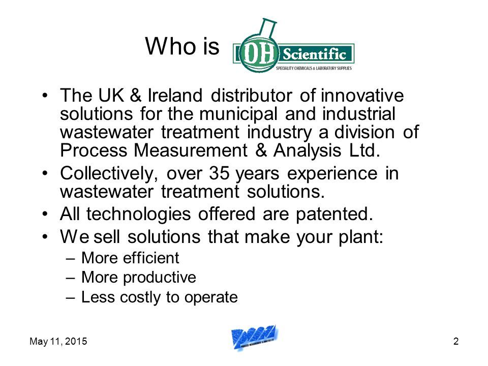 May 11, 20153 What does our bio-solids solution address.