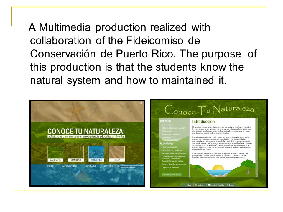 A Multimedia production realized with collaboration of the Fideicomiso de Conservación de Puerto Rico.