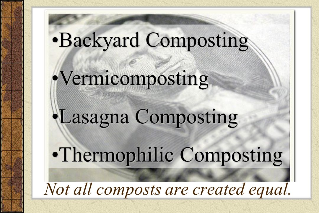 Not all composts are created equal.