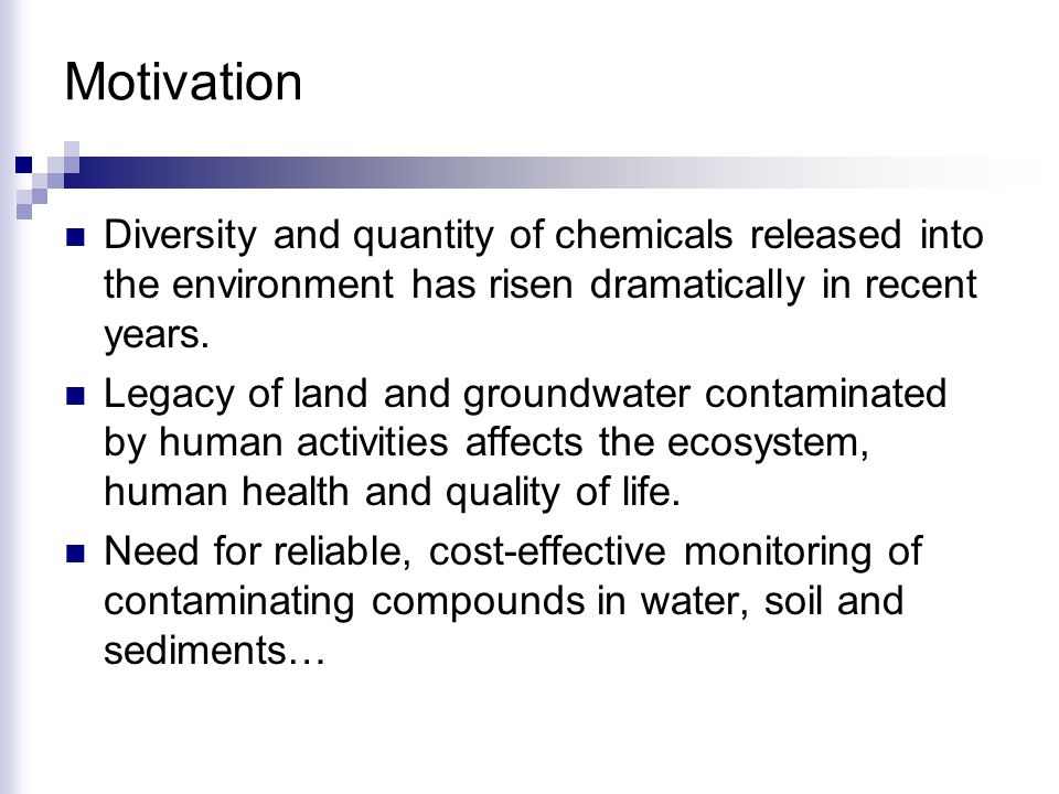 Diversity and quantity of chemicals released into the environment has risen dramatically in recent years.