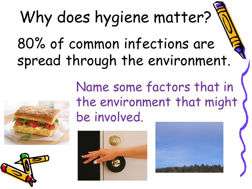 What does good hygiene include? Washing and Grooming of: Hairfaceskinteeth Earshandsnailsfeet