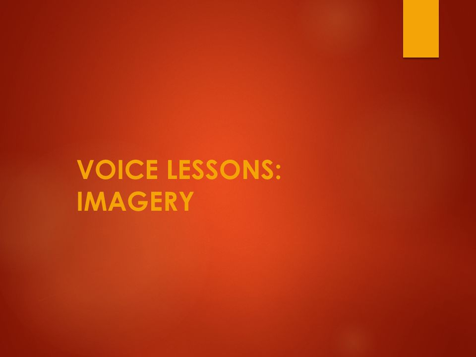 Imagery…what is it. The use of vivid language to create a picture of a sensory experience.