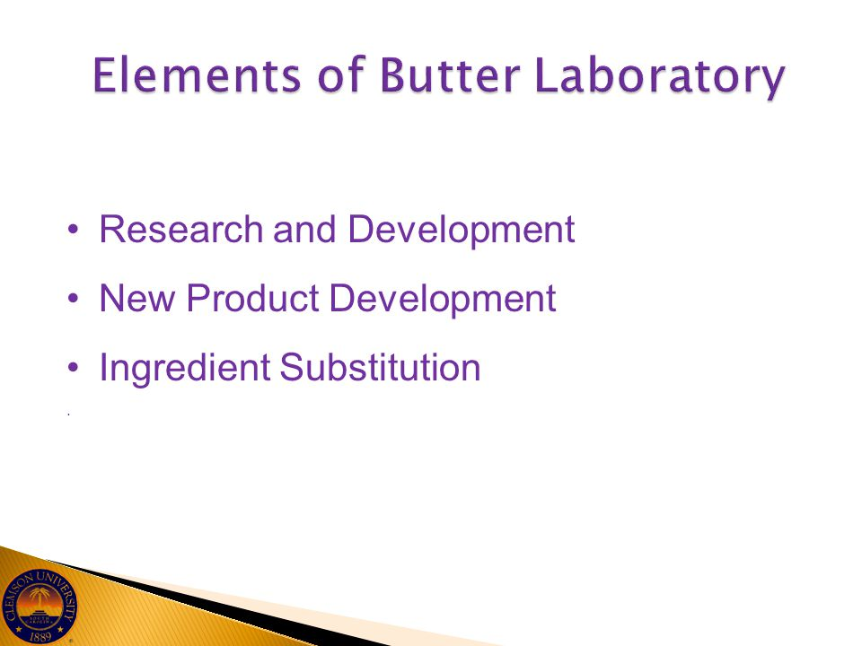 Research and Development New Product Development Ingredient Substitution.