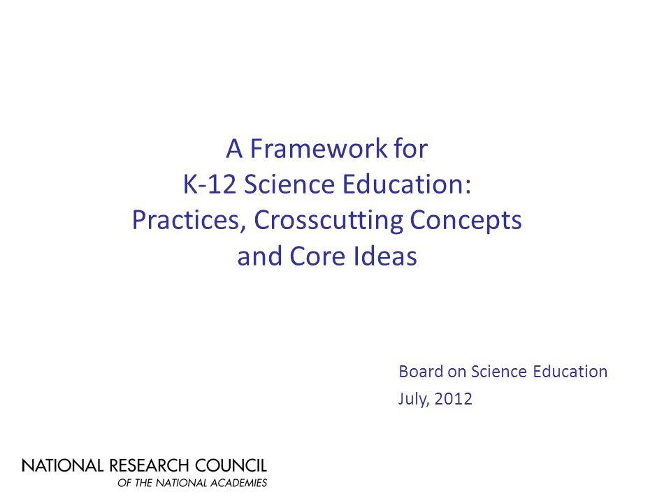 FrameworkStandards Instruction Curricula Assessments Teacher Preparation and development