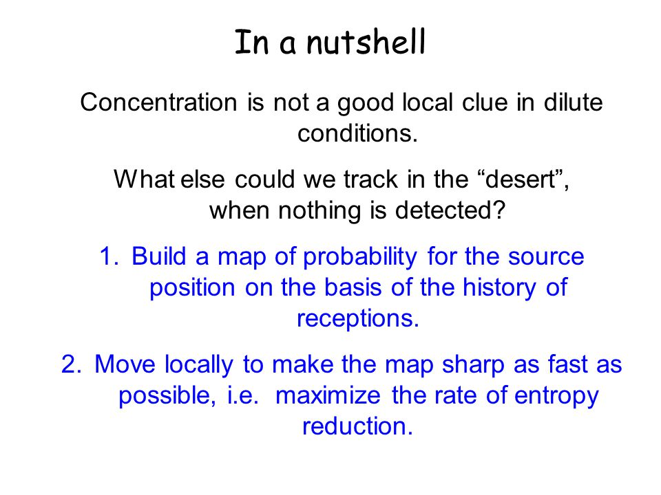 In a nutshell Concentration is not a good local clue in dilute conditions.