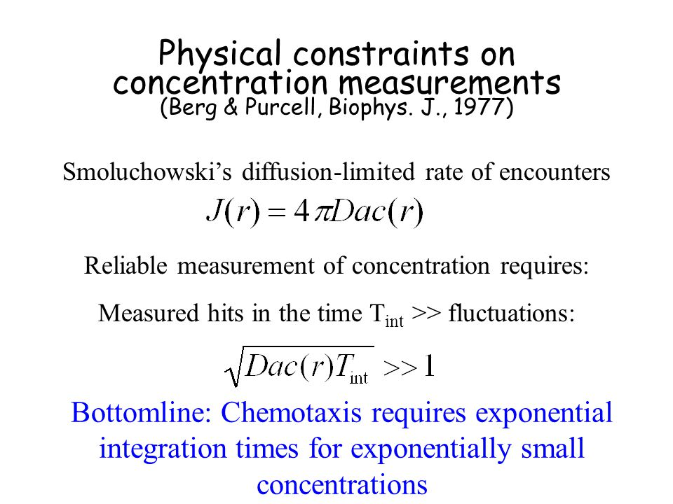 Physical constraints on concentration measurements (Berg & Purcell, Biophys.