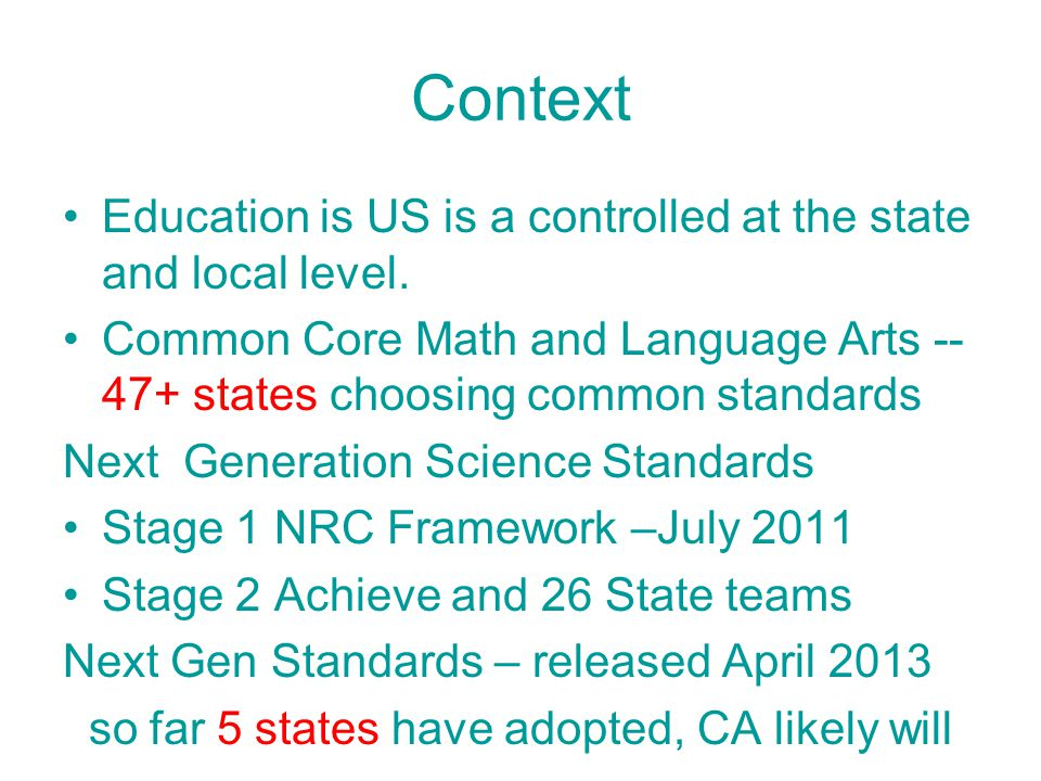 Multiple rounds of review 7 times for state teams AAPT, NSTA etc invited to review parts 2 times for public Real changes made based on input