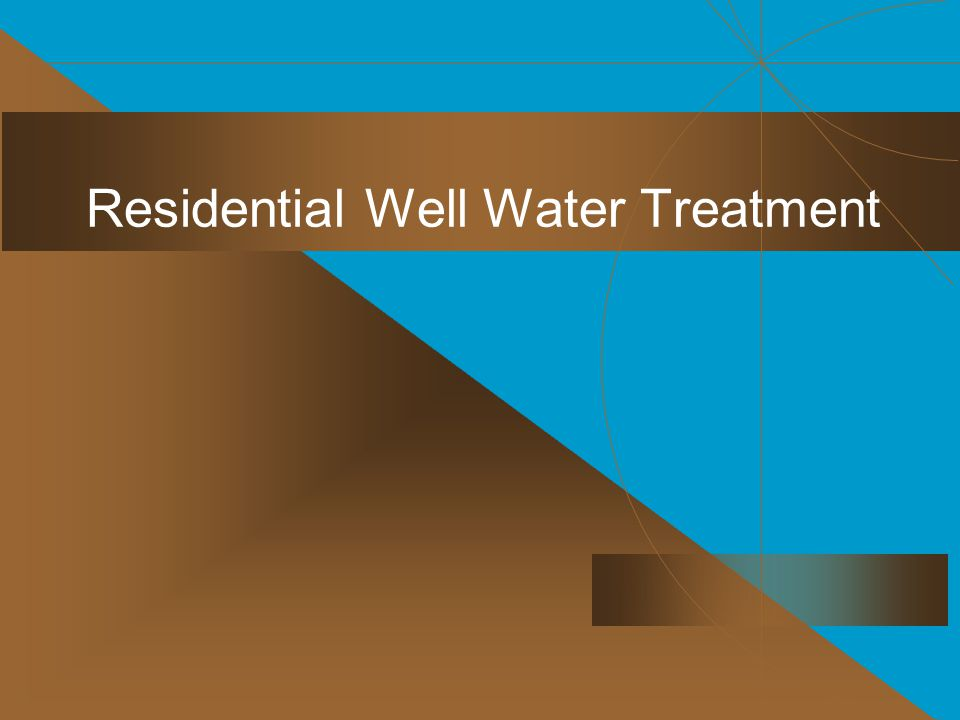 Residential Well Water Treatment