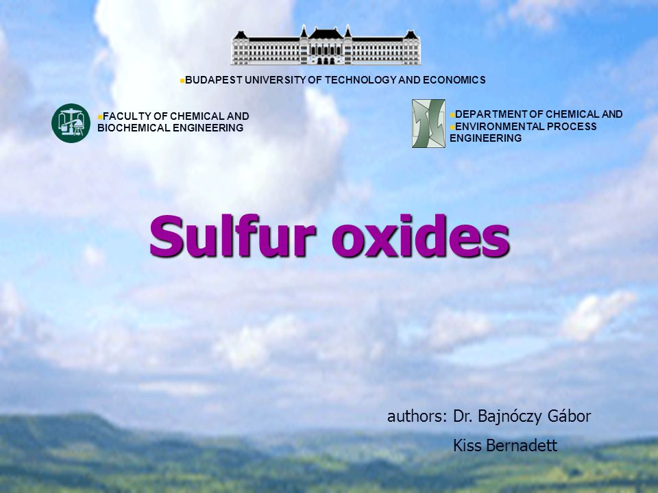 Sulfur oxides authors: Dr.