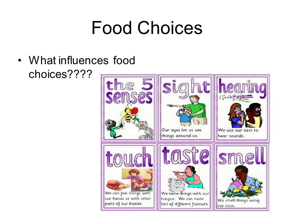 Food Choices What influences food choices????