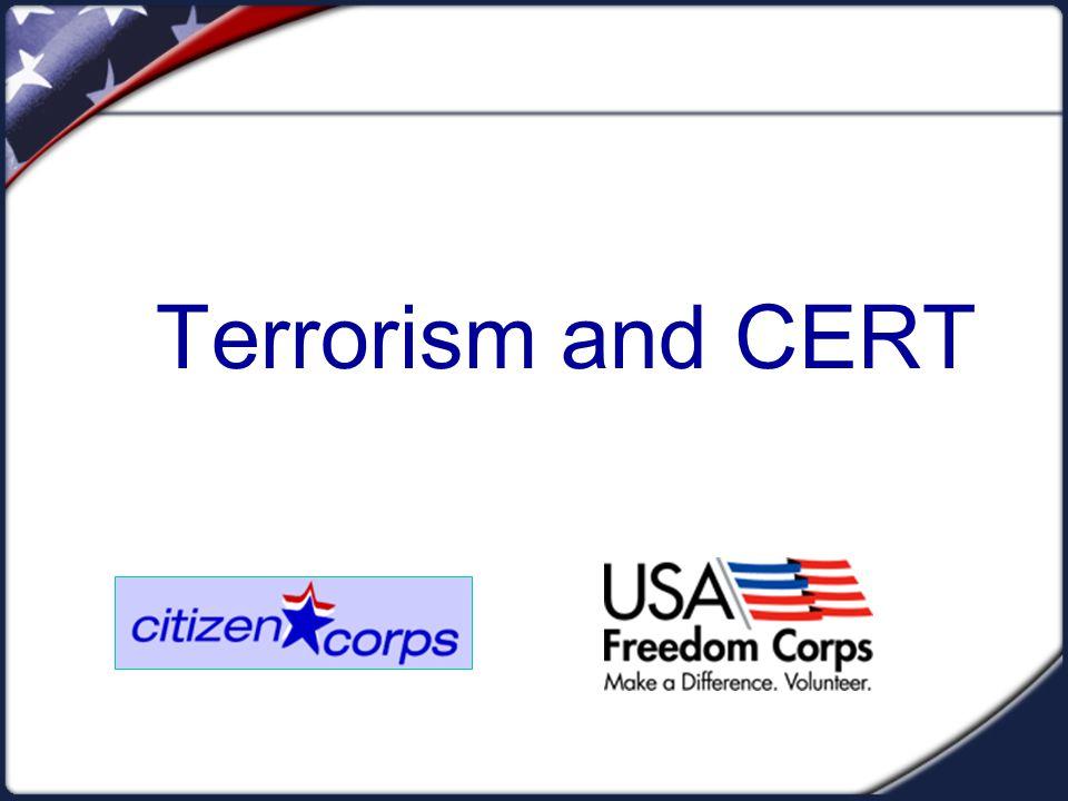 Terrorism and CERT