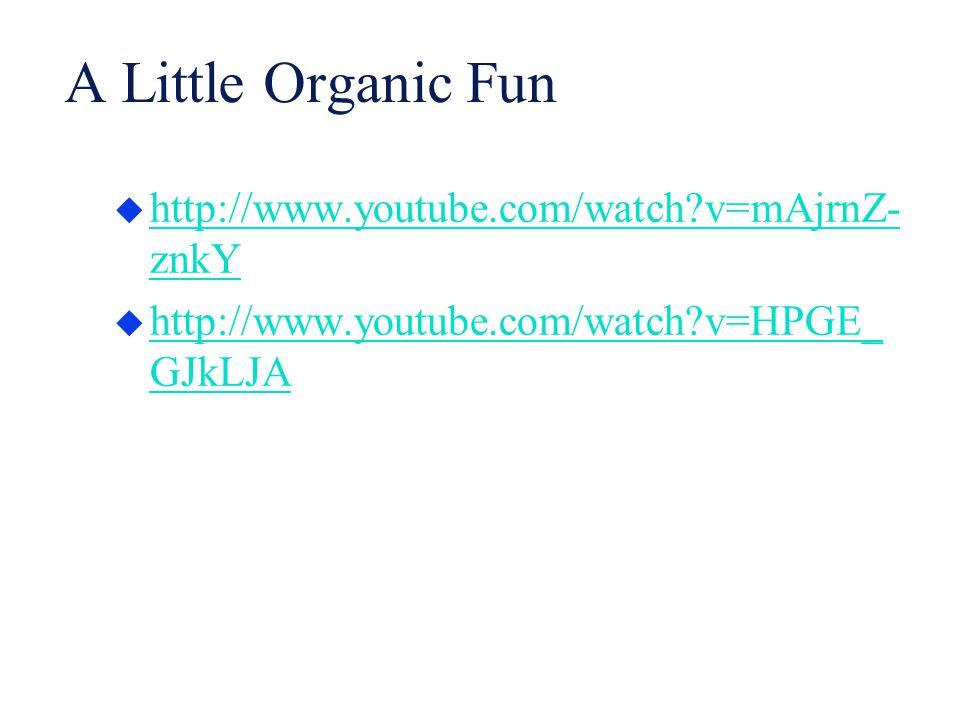 A Little Organic Fun  http://www.youtube.com/watch?v=mAjrnZ- znkY http://www.youtube.com/watch?v=mAjrnZ- znkY  http://www.youtube.com/watch?v=HPGE_
