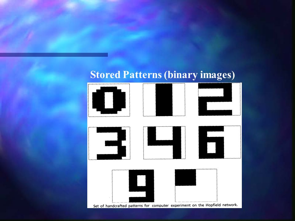 Stored Patterns (binary images)