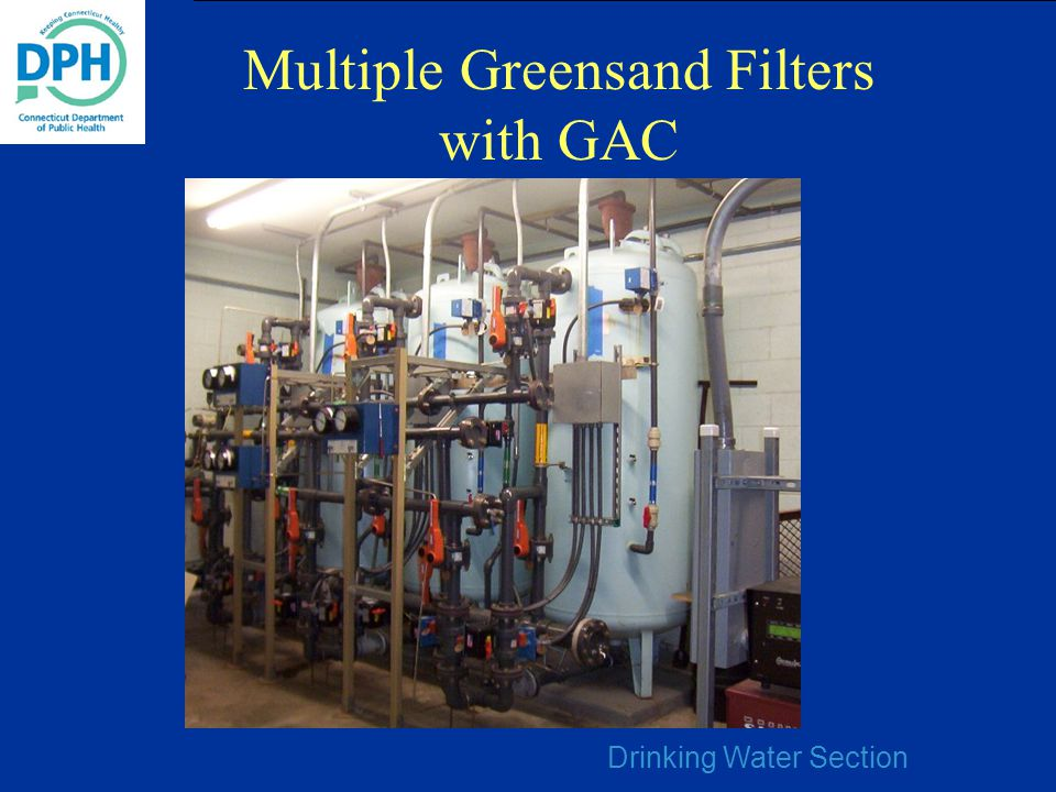 Drinking Water Section Multiple Greensand Filters with GAC