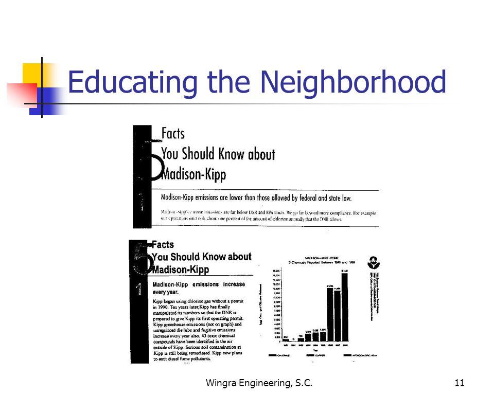 Wingra Engineering, S.C.11 Educating the Neighborhood