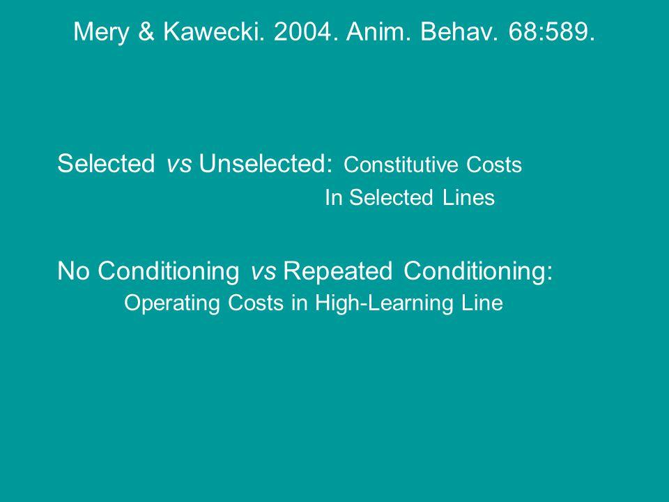 Mery & Kawecki. 2004. Anim. Behav. 68:589.