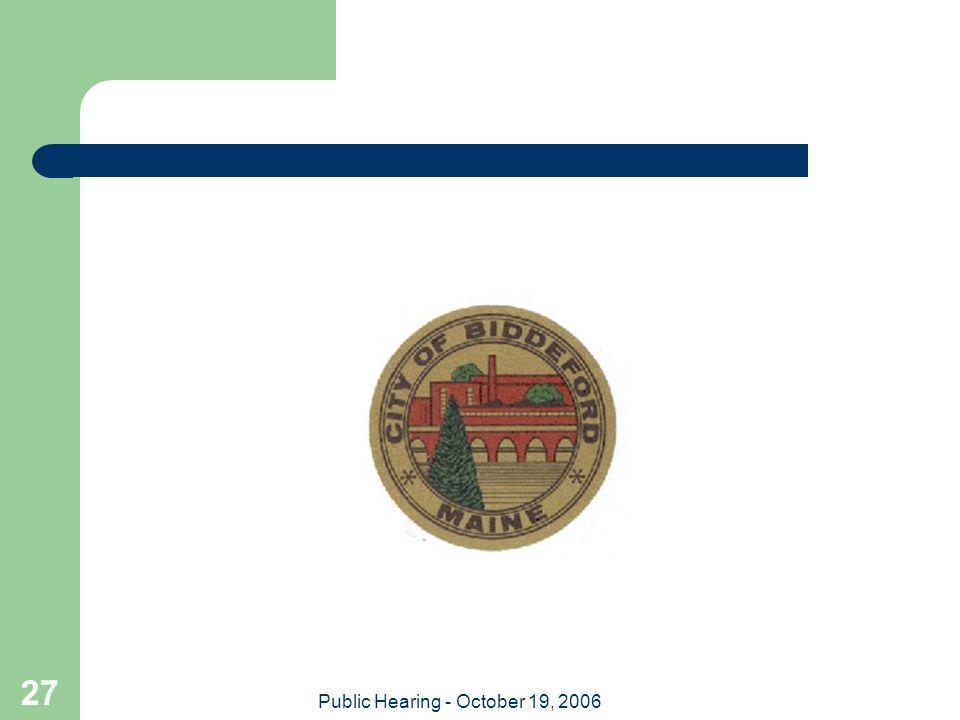 Public Hearing - October 19, 2006 27