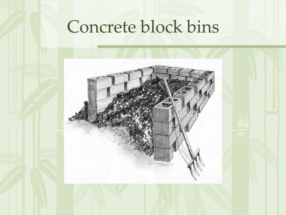 Concrete block bins