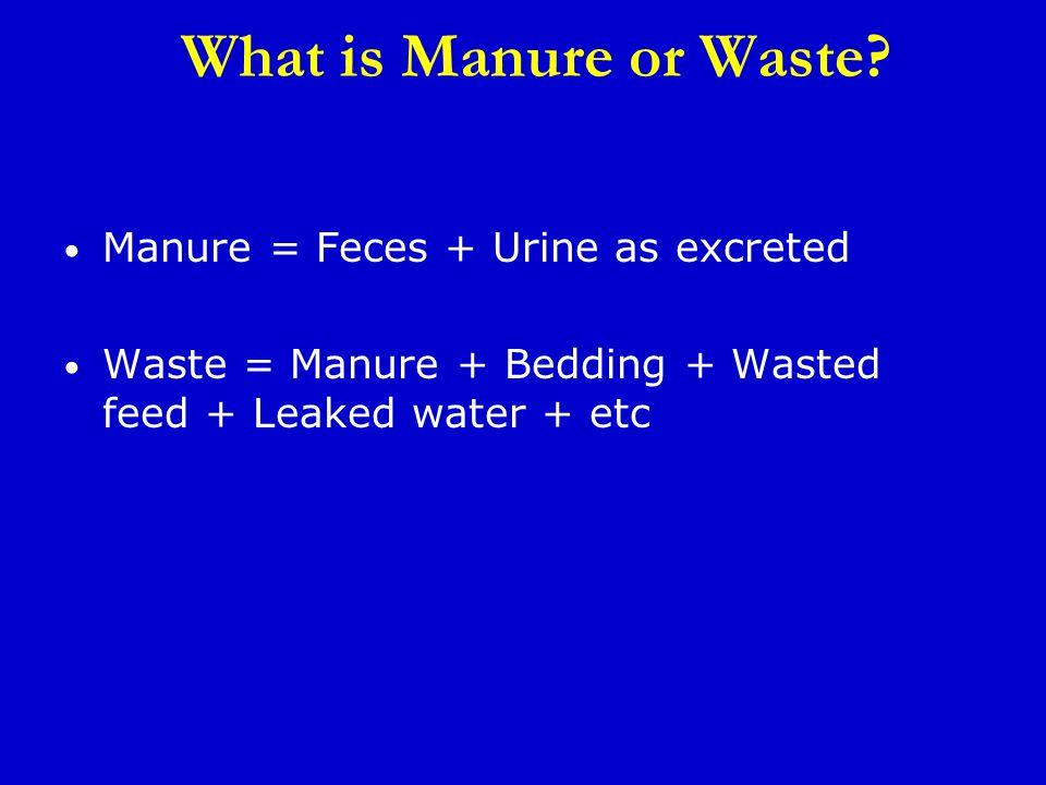 What is Manure or Waste.