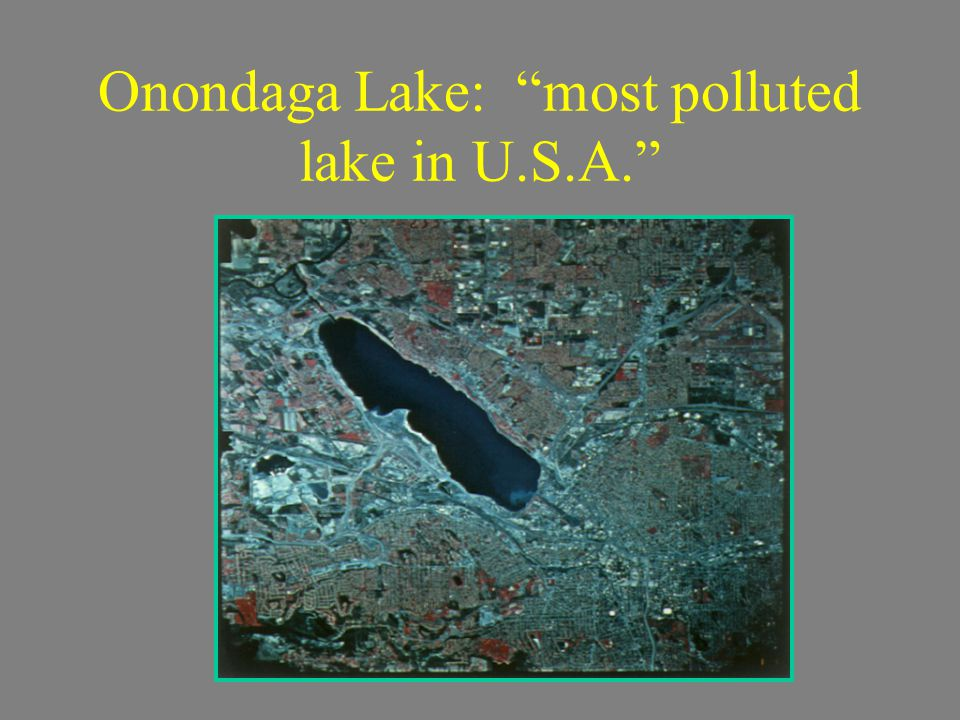 Onondaga Lake: most polluted lake in U.S.A.