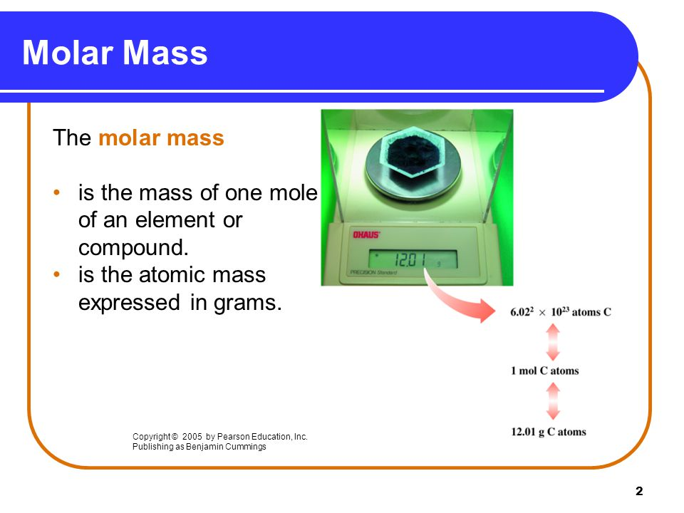 13 Molar mass conversion factors are written from molar mass.