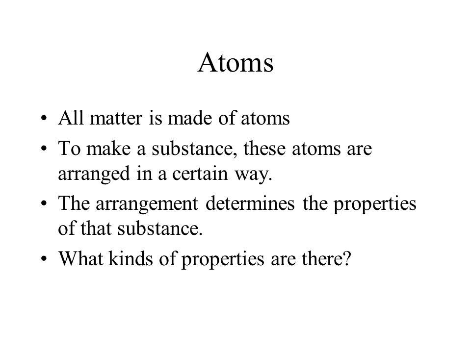 Not Matter What then is not matter.