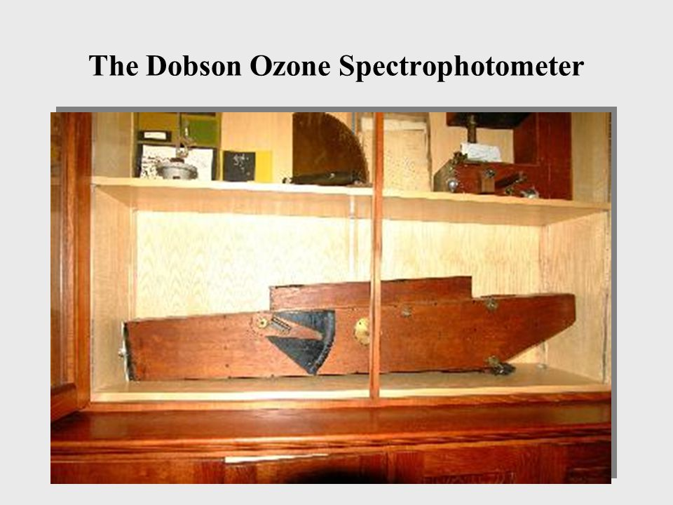 The Dobson Ozone Spectrophotometer