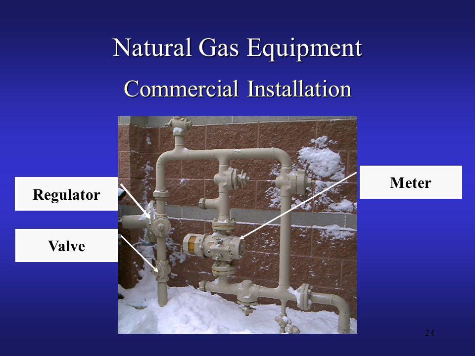 24 Natural Gas Equipment Commercial Installation Meter Valve Regulator