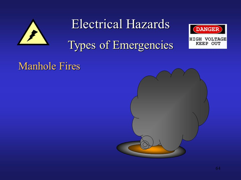 64 Electrical Hazards Types of Emergencies Manhole Fires