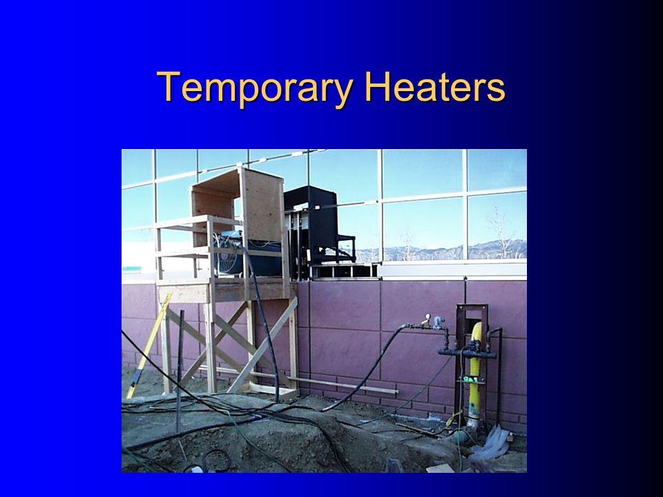 Temporary Heaters