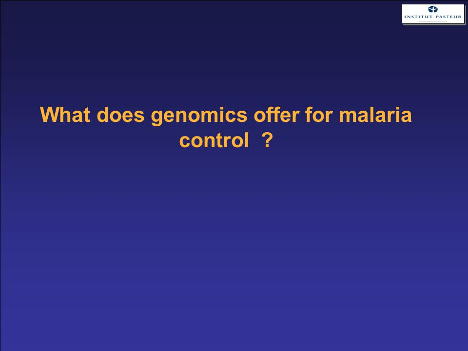 What does genomics offer for malaria control ?