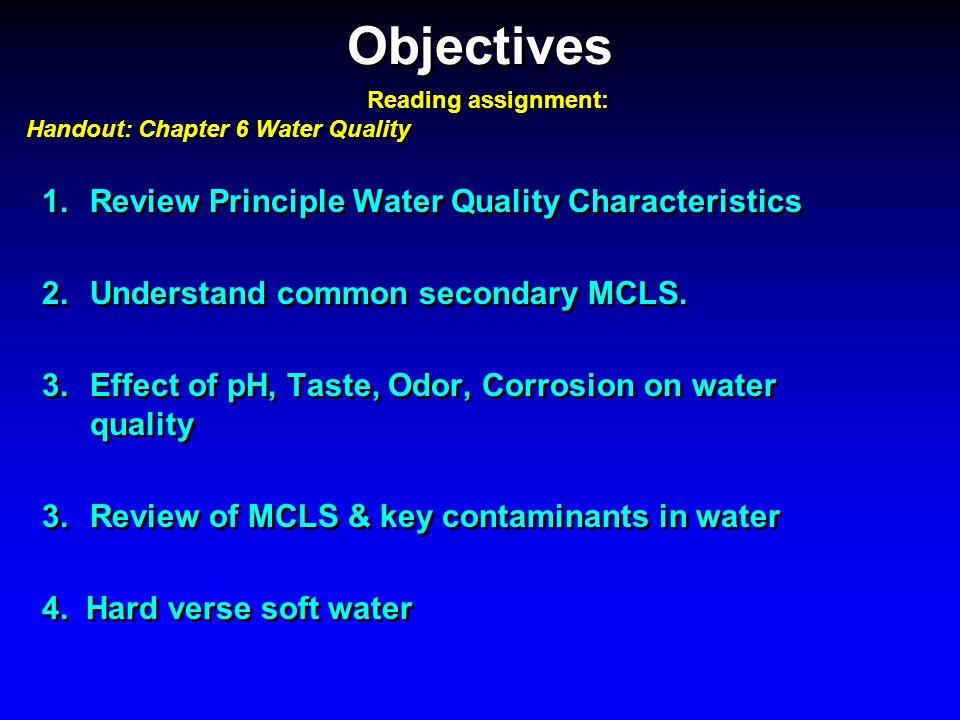 Which of the following substances will reduce the effectiveness of chlorine disinfection.