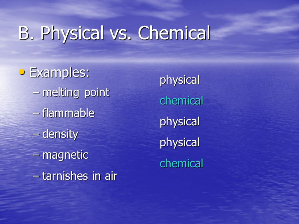 B. Physical vs.