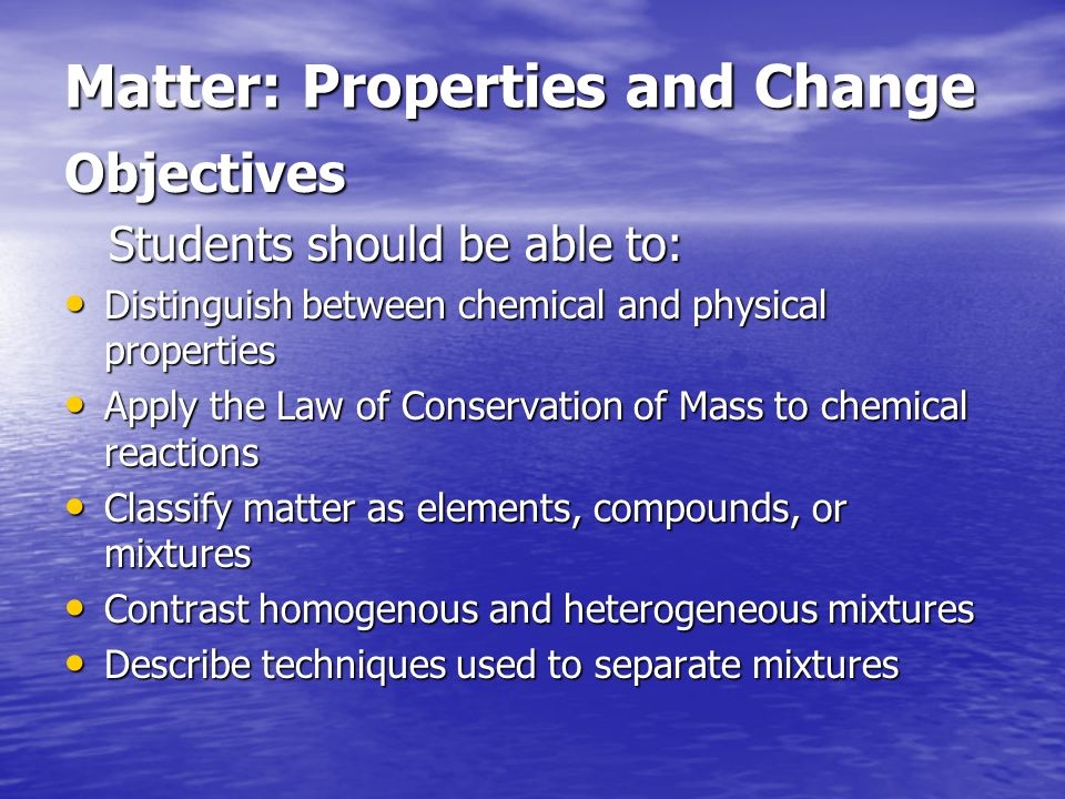 What is matter.Matter – anything that takes up space and has mass.